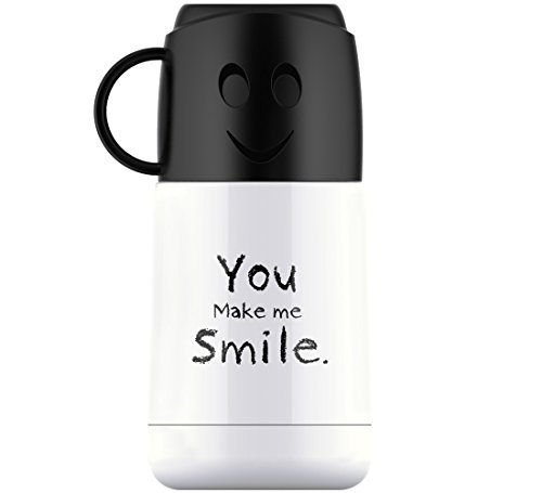 SUS304 Food Grade Vacuum Insulated Stainless Steel Kids Water Bottle Leakproof Thermos Kids Mug 7oz210ml White