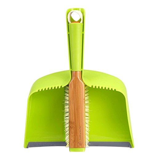 Full Circle Clean Team Brush Dustpan Set Green