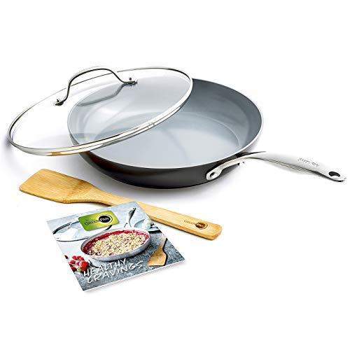 GreenPan CC001875-001 Valencia Pro Cookware Set 4pc Grey