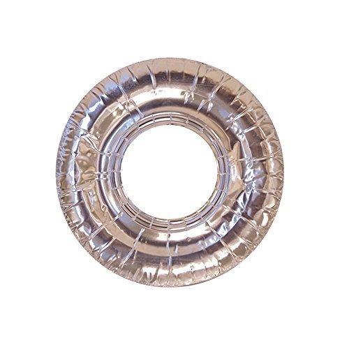 100 Pc Aluminum Foil Round Stove Gas Burner Bib Liners Covers Disposable 75