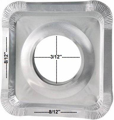 Hanamal Stove Guard Aluminum Foil Square Gas Burner Disposable Bib Liners Covers 12