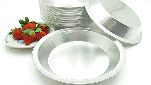 KitchenDance 9 Disposable Heavy Aluminum Foil Pie Pans 25