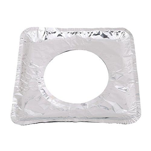 Myhouse Stove Burner Covers Aluminum Foil Gas Burner Bib Square Covers