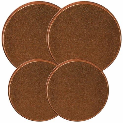 Reston Lloyd Electric Stove Burner Covers Set of 4 Copper Look