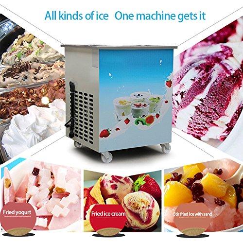 Commercial Yogurt Machine Finlon Ice Cream Roll Machine Single Round Pan Fried Milk Yogurt Machine Ice Cream Maker 110V