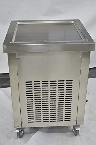 Kolice ETL NSF UL certificated 21x21 inches 52x52cm square ice pan fry ice cream roll machineroll ice cream machinefried ice cream machine Auto defrostsmart AI temp controller