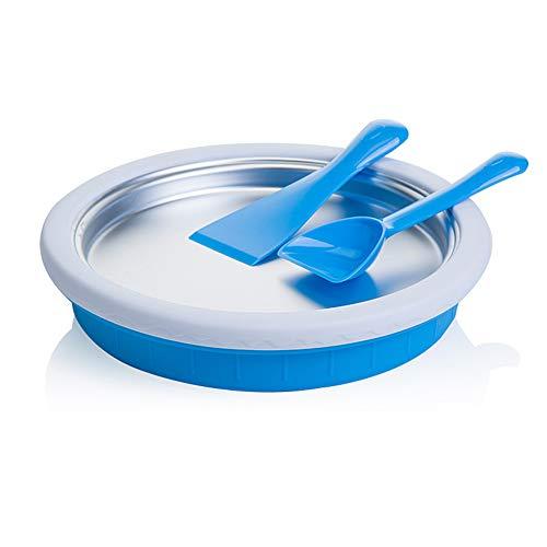 Magik Non-electronic Instant Ice Cream Maker Plate Fried Icecream Ice Roll Pan Machine Frozen Yogurt Blue