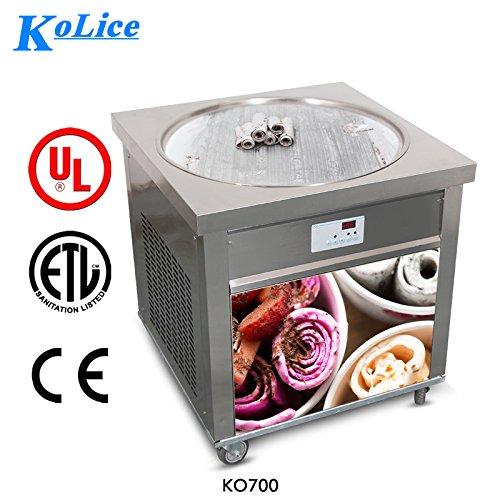 Ment to Door ETL 70cm Single Round pan Instant Fry ice Cream Machine Fried ice Cream Machine Instant roll ice Cream Machine with Full Refrigerant