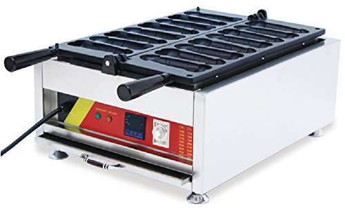 Generic Commercial Use Nonstick 110v 220v Electric 8-cavity 180° Opening Penis Waffle Dog Baker with Digital Display