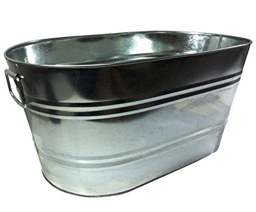 FixtureDisplays Galvanized Metal Ice Bucket Beverage Beer Drink Party Cooler Bucket 15358-NF