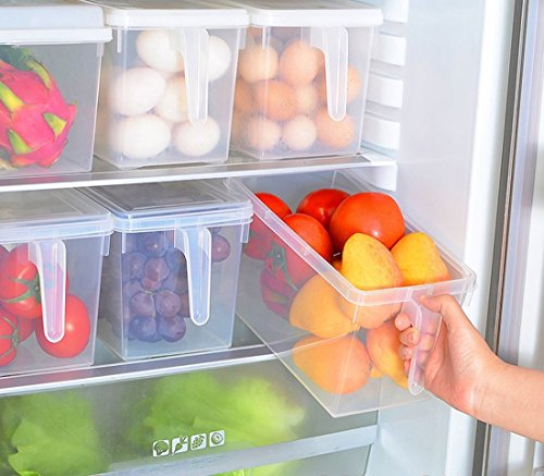 1PCS Kitchen Pantry Refrigerator Freezer Storage Container Box with Lid