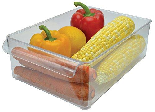 Stackable Bins Kitchen Storage Containers Refrigerator Organizer Single Wide Bin 4 Grins