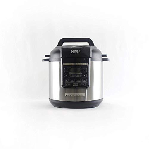 Ninja Instant PC101 1000-Watt Pressure Multi Cooker Slow and Steamer 6-Quart Ceramic Coated Pot with Steam Rack BlackSilver Renewed