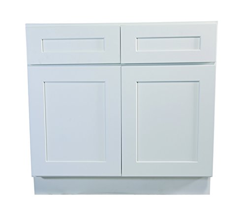 Design House 561407 Brookings 36-Inch Base Cabinet White Shaker