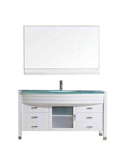 Virtu MS-5055-G-WH Ava Single Bathroom Vanity Cabinet Set 55 White