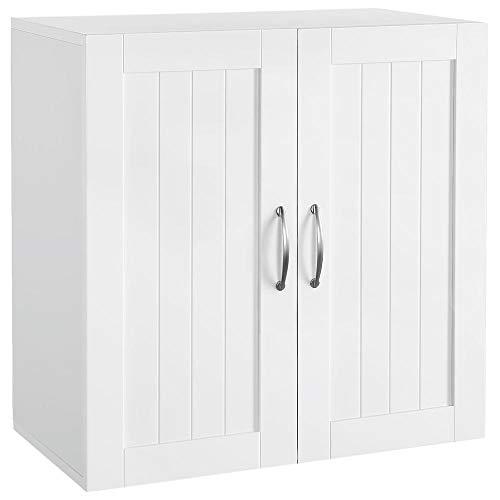 Topeakmart Home KitchenBathroomLaundry 2 Door 1 Wall Mount Cabinet White 23in x 23in