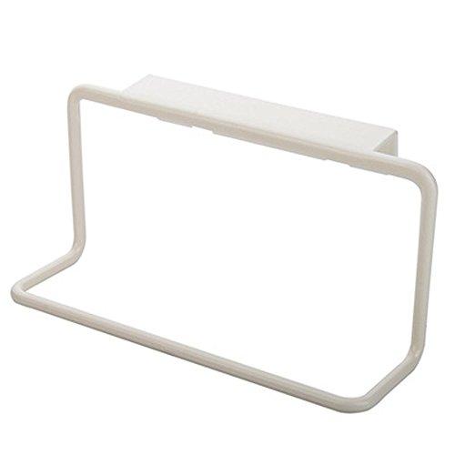 1 PC Towel Rack Hanging Holder Organizer  Towel Bar Rack for Kitchen Bathroom  Over The Door Cabinet Cupboard Hanger Daorkanduhp