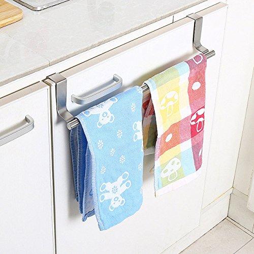 Casa Copenhagen Stainless Steel Towel Bar Holder Kitchen Cabinet Cupboard Door Hanging Rack Storage Hook Accessories Silver