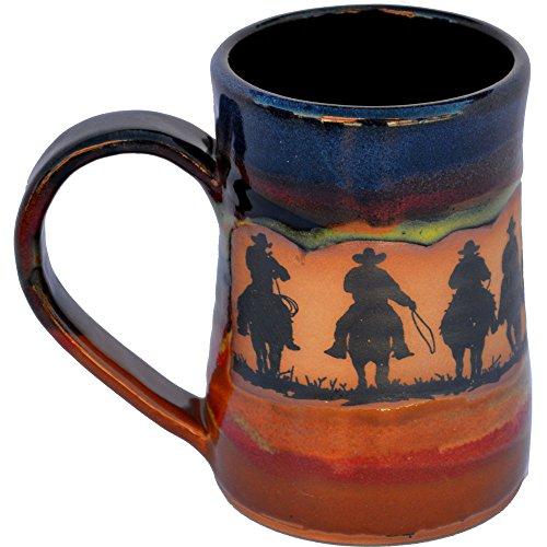 Cowboy Roundup 17 Oz Small Tankard in Azulscape glaze