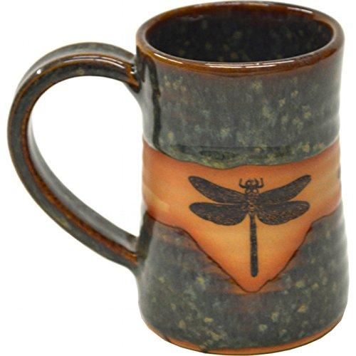 Dragonfly 17 Oz Small Tankard in Seamist glaze