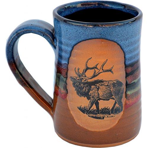 Elk 17 Oz Small Tankard in Azulscape glaze