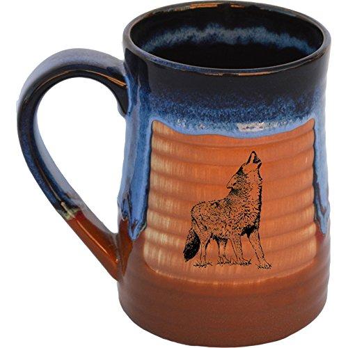 Howling Wolf 17 Oz Small Tankard in Azulscape glaze