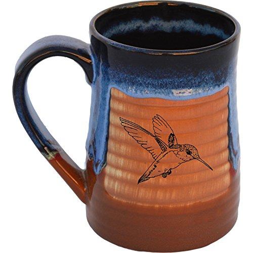 Hummingbird 17 Oz Small Tankard in Azulscape glaze