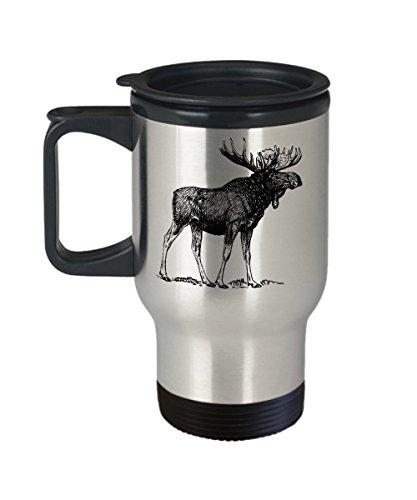 Canada Moose Travel Mug Cool Bull Moose Sketch Coffee Gift