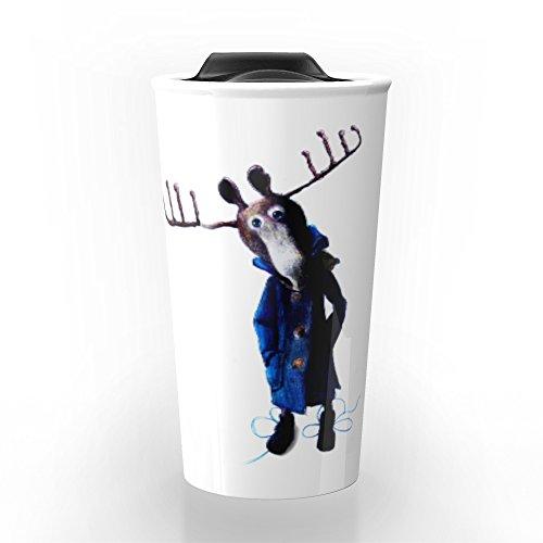 Society6 Funny Moose Travel Mug 12 oz