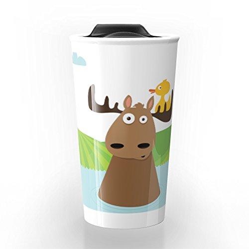 Society6 Moose Juice Travel Mug 12 oz
