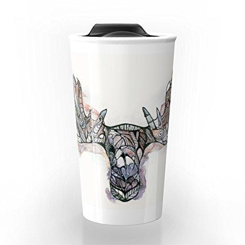 Society6 Moose Moose Travel Mug 12 oz