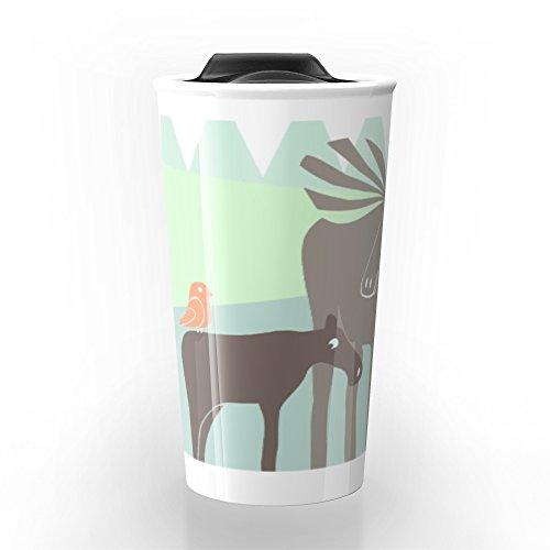 Society6 Moose Travel Mug 12 oz
