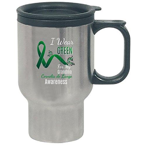 Grandma Awareness I Wear Green For My Cornelia De Lange - Travel Mug