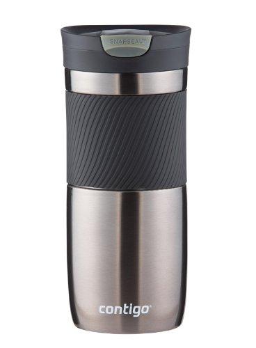 Contigo SnapSeal Byron Vacuum-Insulated Stainless Steel Travel Mug 16 oz Gunmetal