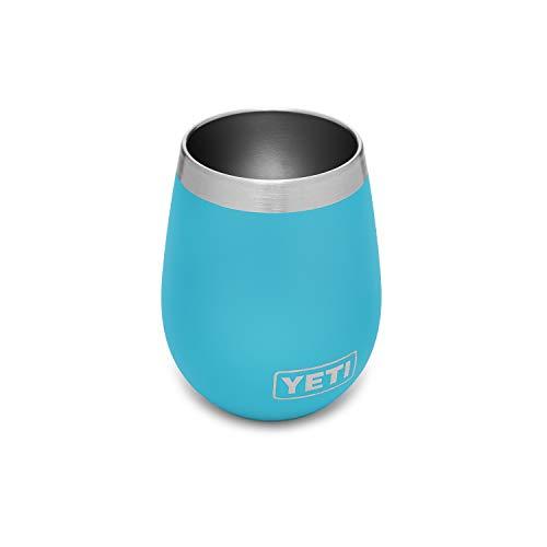 YETI Rambler 10 oz Wine Tumbler Vacuum Insulated Stainless Steel Reef Blue