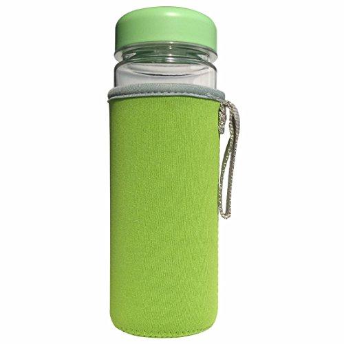 Portable My Bottle Sport Plastic Fruit Juice Water Cup  Water Bottle Bags 500MLGreen