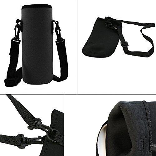 Wrisky 750ML Neoprene Water Bottle Carrier Insulated Cover Bag Holder Strap Travel