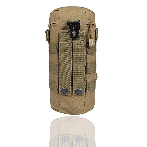 xhorizon SR Waterproof Nylon Heavy Duty Multi-purpose Military Tactical Utility Water Bottle Bag Camping Hiking Outdoor Waist Pack 3