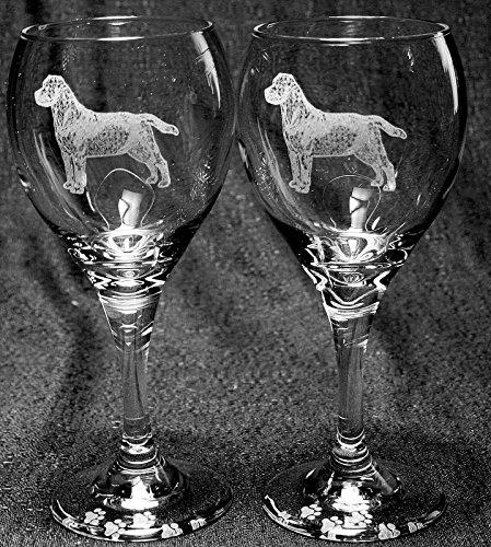 Labrador Retriever Dog Laser Etched Wine Glass Set 2 TDW