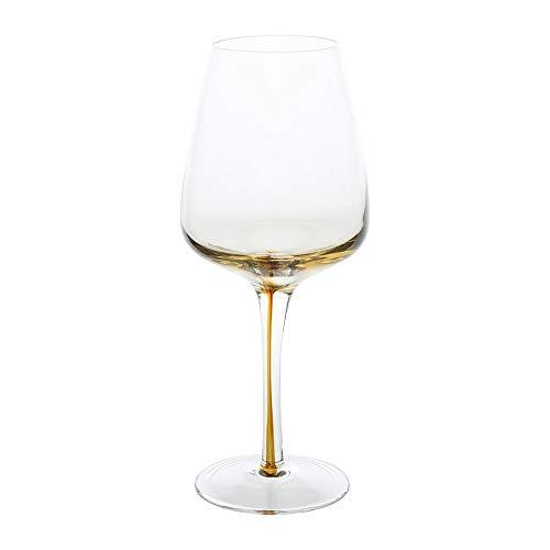 Broste-Copenhagen Amber Mouth Blown Wine Glass - ClearCaramel - White Wine