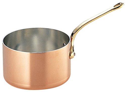 SW copper Thick deep saucepan Futana  brass pattern 18‡p gazelle