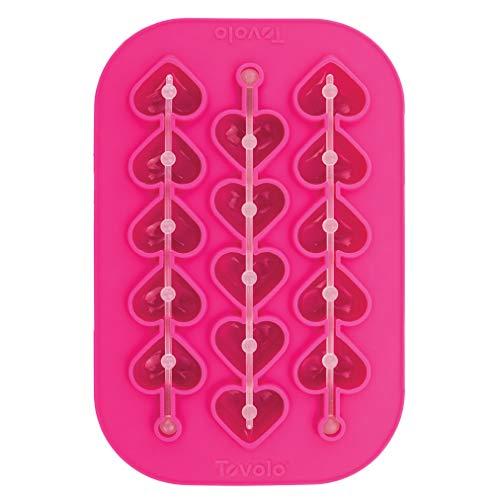 Tovolo Heart Swizzle Stirrer Stick Ice Mold Highball Size Flexible Silicone Dishwasher Safe