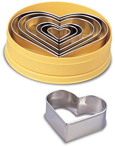 JB Prince Plain Heart Cutter Set - 7 pcs