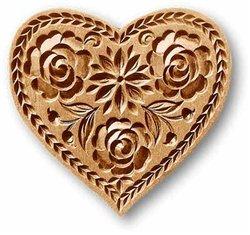 Lotus Heart Springerle Cookie Mold Plus Custom Cutter