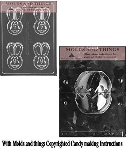 Easter Egg chocolate candy mold Easter Bunny ChocolateCandy Mold Easter Bunny Oreo Cookie Chocolate Mold with Copyrighted molding Instructions