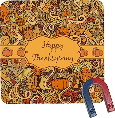 Thanksgiving Square Fridge Magnet Personalized