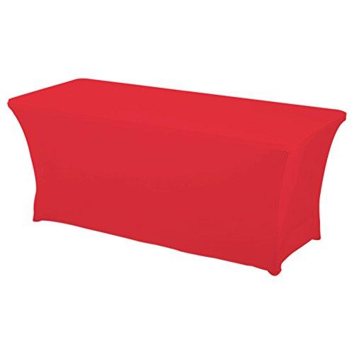 HAORUI Rectangular Spandex Table Cover 6 ft Red