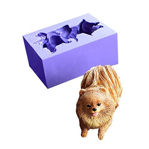 Cute Dog Silicone Molds Chocolate Fondant MoldsRunloo 3D Puppy Dog Soap Molds Pomeranian Candle Moulds