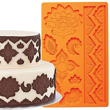 HJLHYL Cake Decoration Tools Global Fondant and Gum Paste Mould Cake Border Silicone Mold FM-03