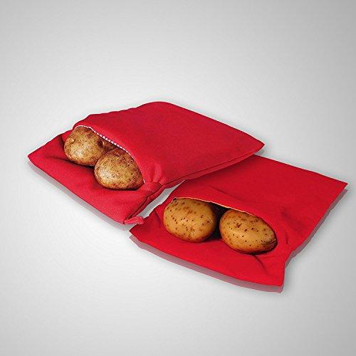 2-Pack Reusable Potato Baking Bags Quick Microwave Potato Bag Bake Express Potato and Corn on the Cob in Minutes